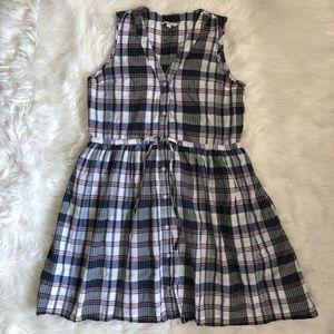 Gap plaid pockets 90s style school dress
